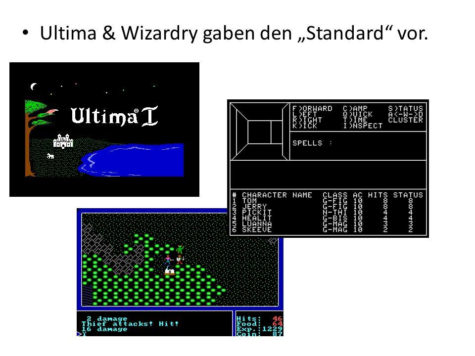 Ultima & Wizardry gaben den Standard vor.