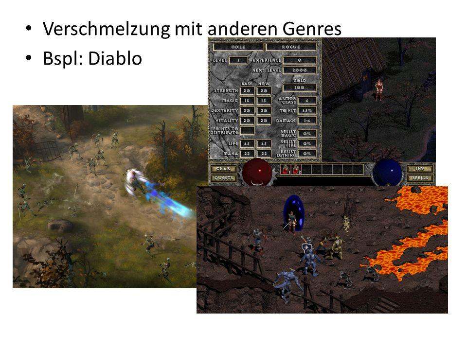 Verschmelzung mit anderen Genres Bspl: Diablo
