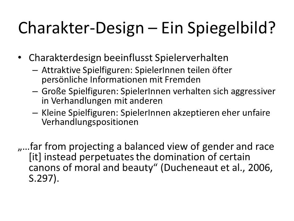 Charakter-Design – Ein Spiegelbild? Charakterdesign beeinflusst Spielerverhalten – Attraktive Spielfiguren: SpielerInnen teilen öfter persönliche Info