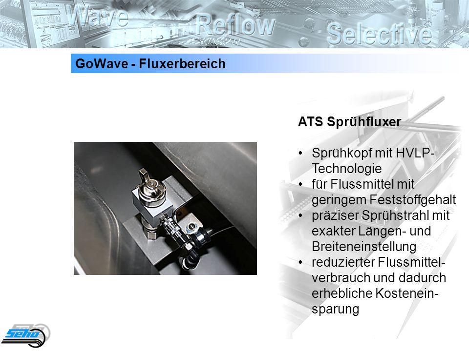 4 GoWave - Fluxerbereich ATS SprühfluxerSprühkopf mit HVLP- Technologie für Flussmittel mit geringem Feststoffgehalt präziser Sprühstrahl mit exakter