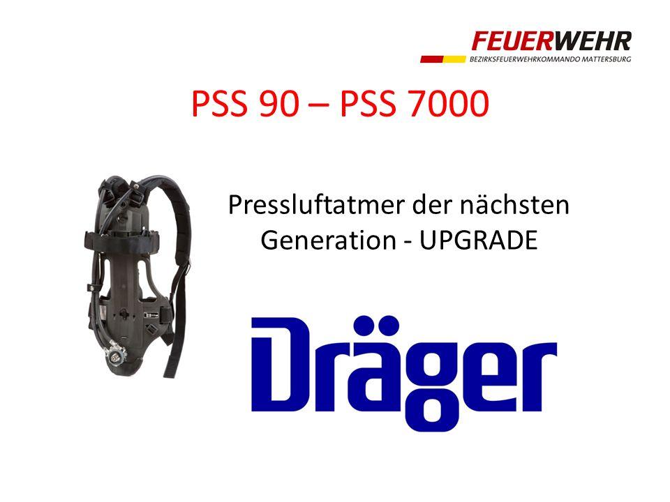 PSS 90 – PSS 7000 Pressluftatmer der nächsten Generation - UPGRADE