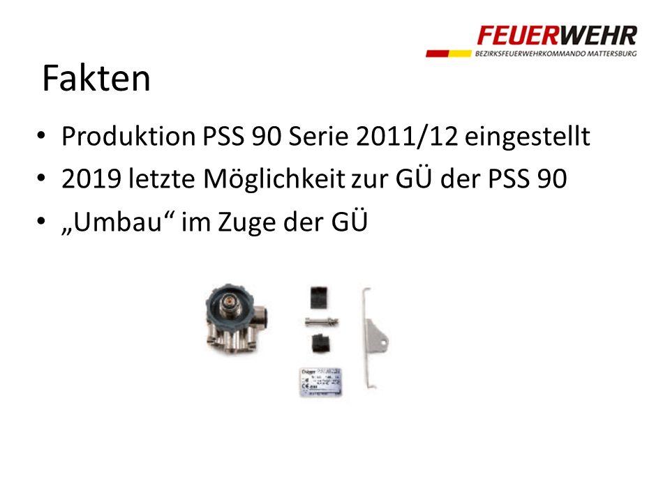 Fakten Produktion PSS 90 Serie 2011/12 eingestellt 2019 letzte Möglichkeit zur GÜ der PSS 90 Umbau im Zuge der GÜ