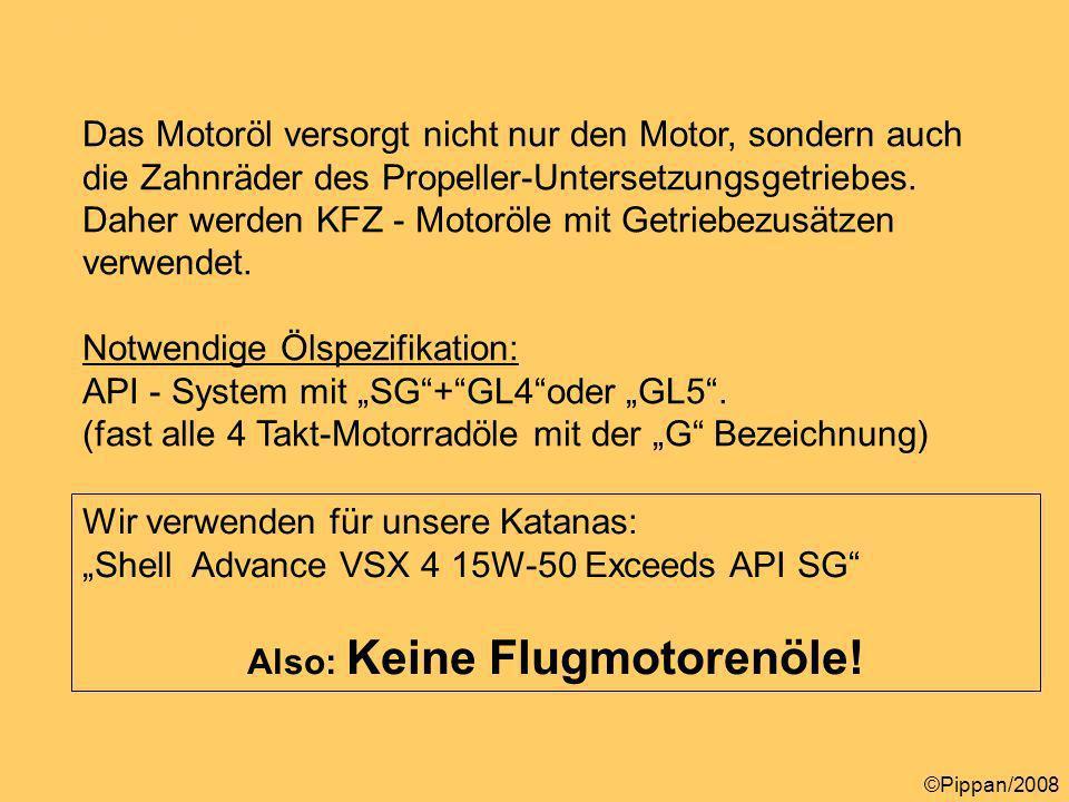 Propellerarten Text 4 Das Motoröl versorgt nicht nur den Motor, sondern auch die Zahnräder des Propeller-Untersetzungsgetriebes.