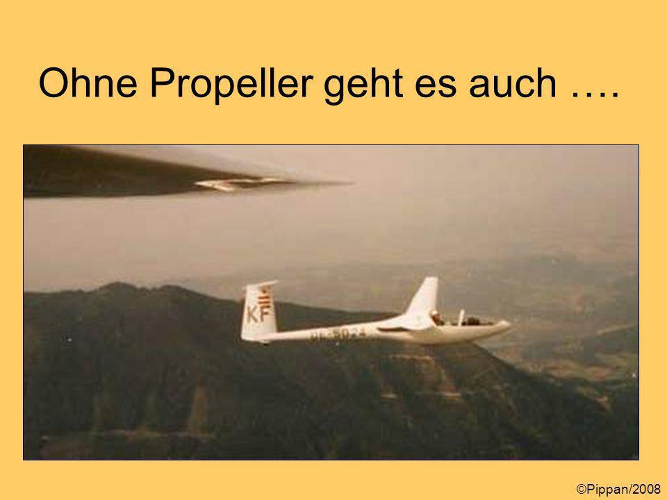 Ohne Propeller geht es auch …. ©Pippan/2008