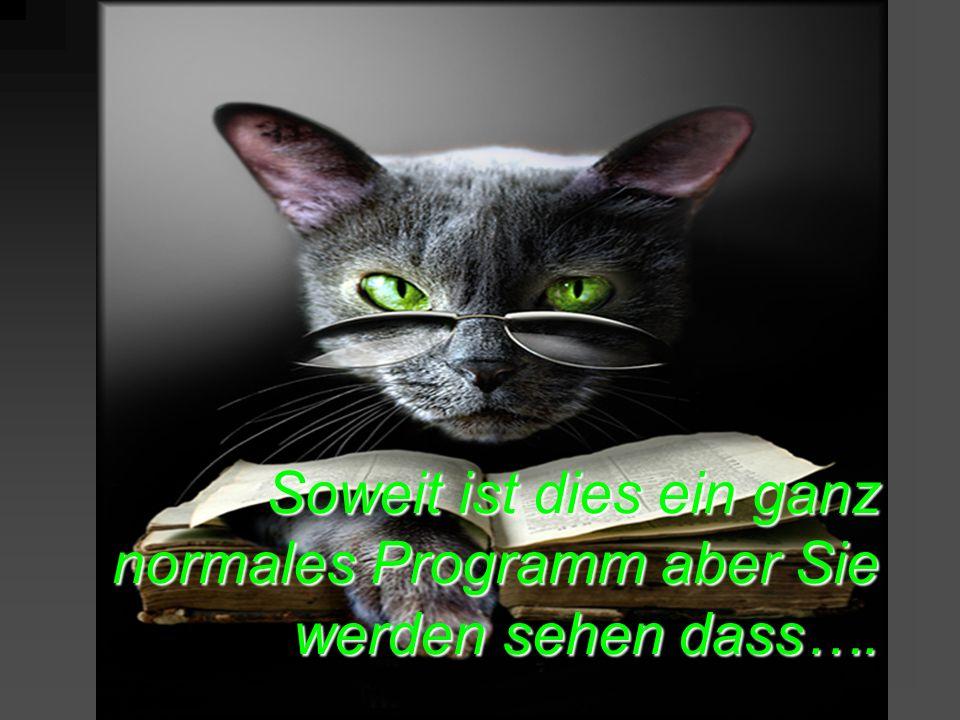 Soweit ist dies ein ganz normales Programm aber Sie werden sehen dass….