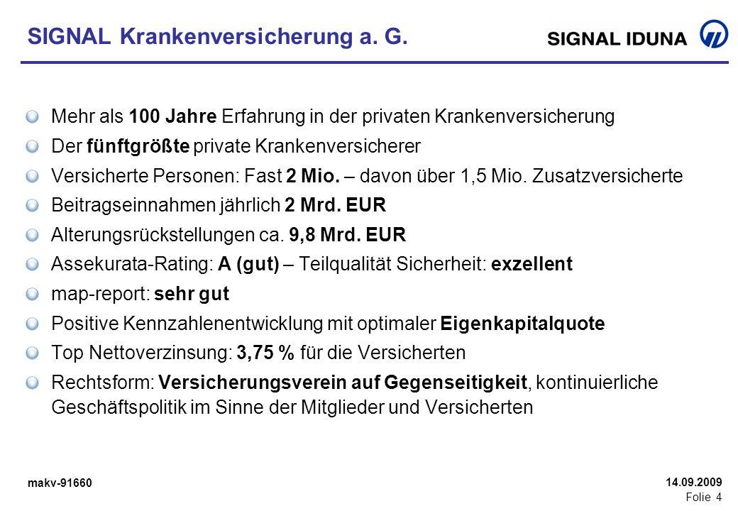 makv-91660 Folie 35 14.09.2009 SIGNAL Kranken ist Spitze.