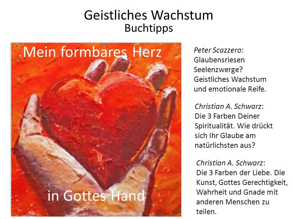 Mein formbares Herz in Gottes Hand Geistliches Wachstum Buchtipps Peter Scazzero: Glaubensriesen Seelenzwerge? Geistliches Wachstum und emotionale Rei