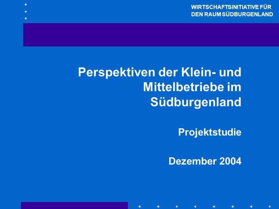 Perspektiven der Klein- und Mittelbetriebe im Südburgenland Projektstudie Dezember 2004 WIRTSCHAFTSINITIATIVE FÜR DEN RAUM SÜDBURGENLAND