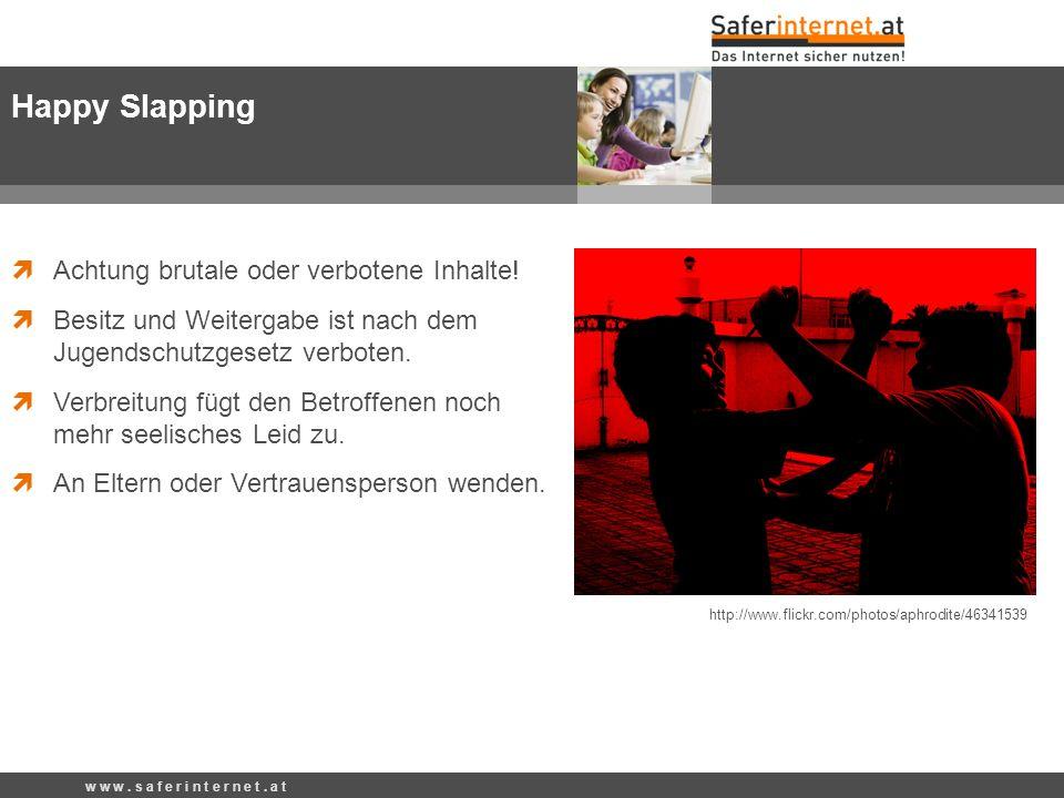 http://www.flickr.com/photos/aphrodite/46341539 Happy Slapping Achtung brutale oder verbotene Inhalte! Besitz und Weitergabe ist nach dem Jugendschutz