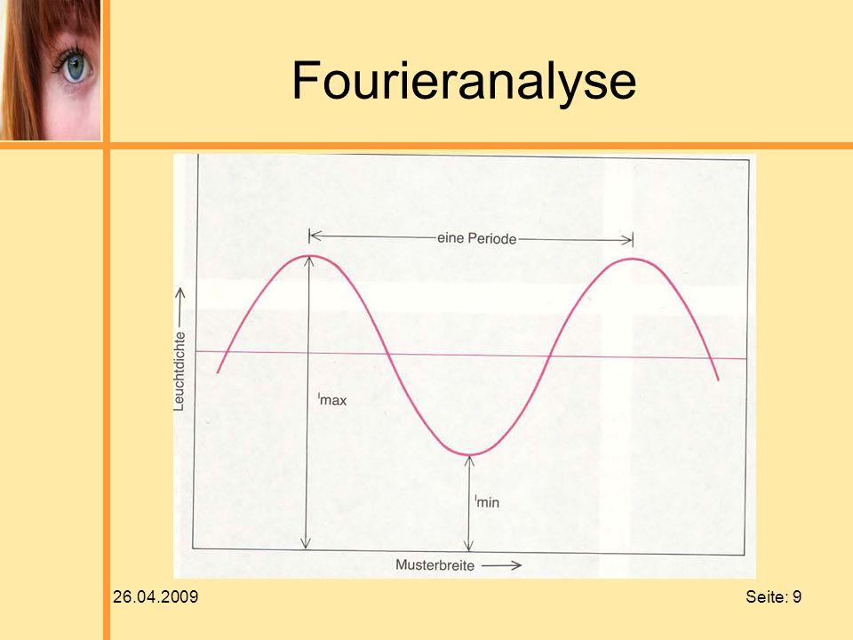 26.04.2009 Seite: 9 Fourieranalyse