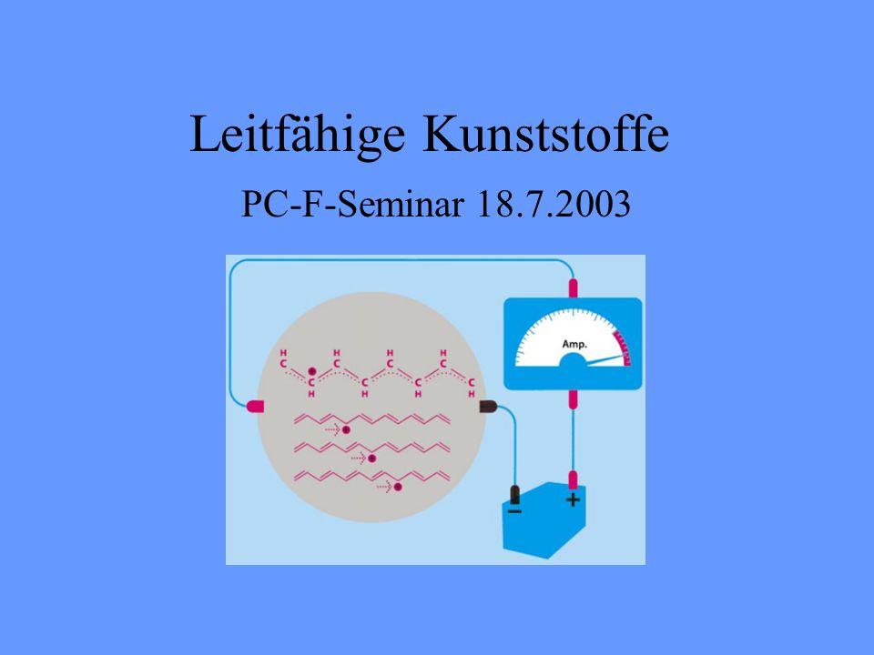 Leitfähige Kunststoffe PC-F-Seminar 18.7.2003