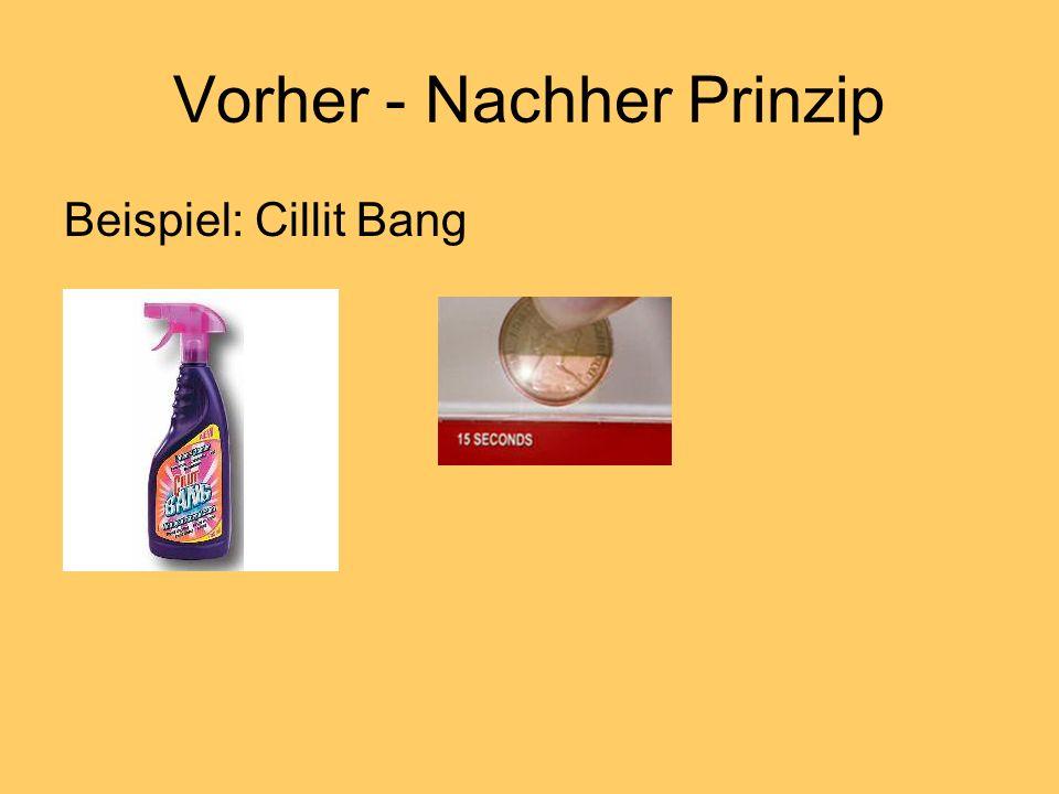 Vorher - Nachher Prinzip Beispiel: Cillit Bang