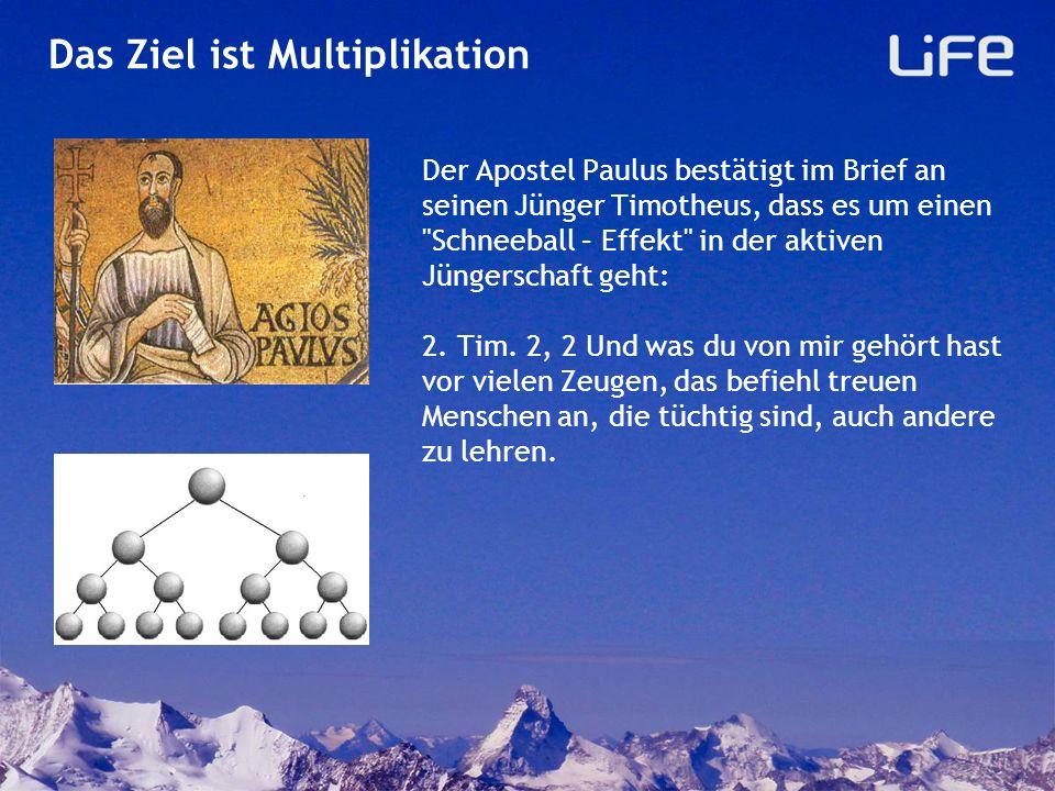 Multiplikation Jedes lokale LiFe–Seminar ist eingebettet in die gemeinsame Vision: Wir wollen mit einer möglichst guten Methode in der Evangelisation permanente Multiplikation und nicht nur gelegentliche Addition erreichen!