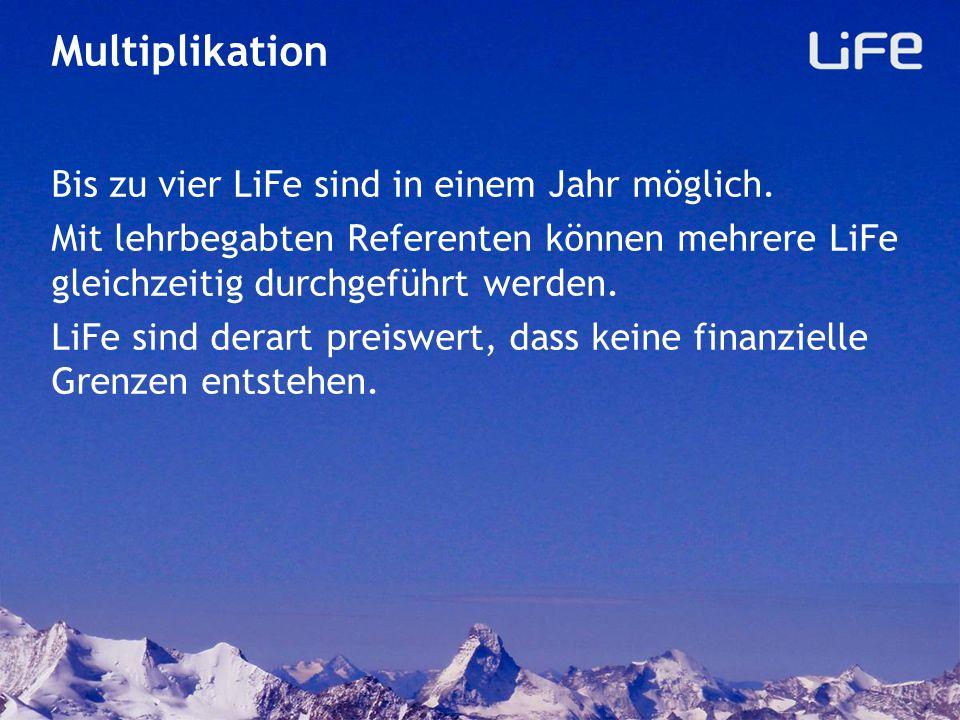 Feedback Ausfüllen des Feedback (auf Papier oder unter www.life-evangelisation.ch) Angaben über Durchführungsort, Datum, Zeit Anzahl der Gäste, Begleitpersonen, Bekehrungen Anregungen und Verbesserungen fliessen so in die LiFe-Entwicklung ein.