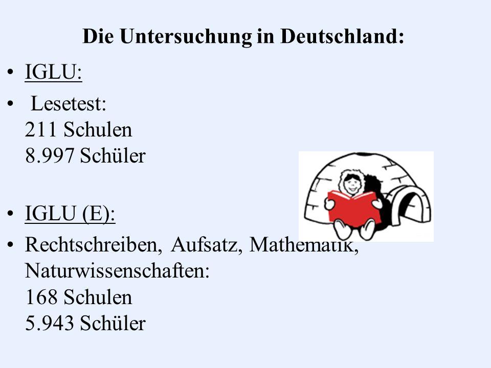 Ergebnisse der Mathematiktests Deutschland 545 P (+16) International 529 Positiv: hohe Motivation auf allen Kompetenzst.