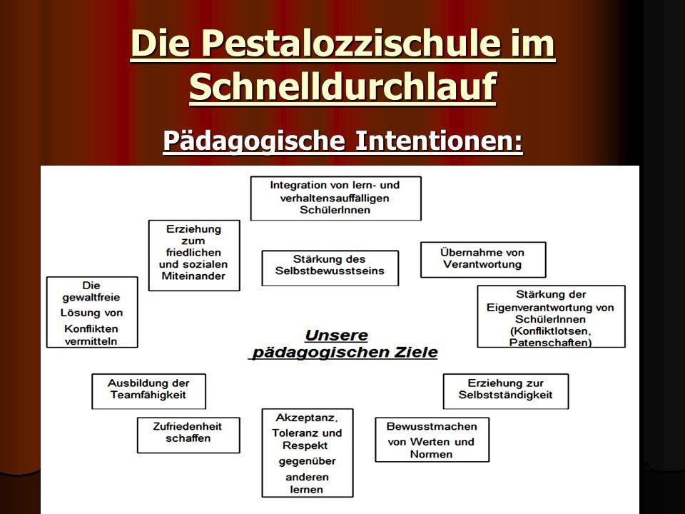 Die Pestalozzischule im Schnelldurchlauf Pädagogische Intentionen: