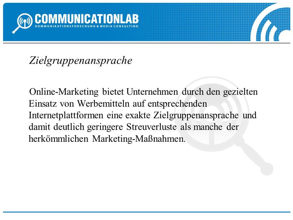 Zielgruppenansprache Online-Marketing bietet Unternehmen durch den gezielten Einsatz von Werbemitteln auf entsprechenden Internetplattformen eine exak