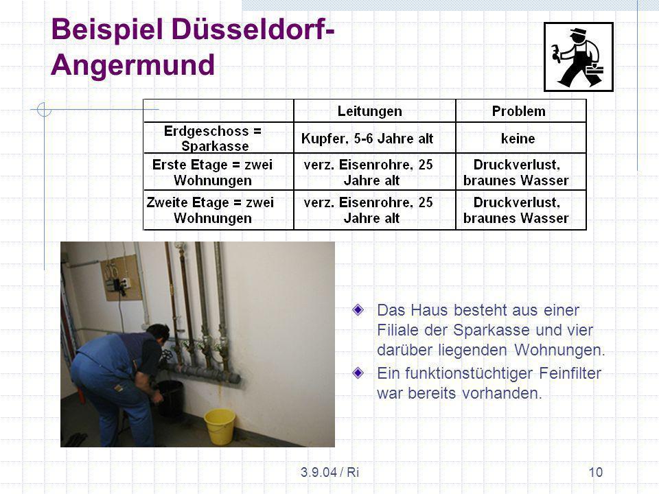 3.9.04 / Ri10 Beispiel Düsseldorf- Angermund Das Haus besteht aus einer Filiale der Sparkasse und vier darüber liegenden Wohnungen.