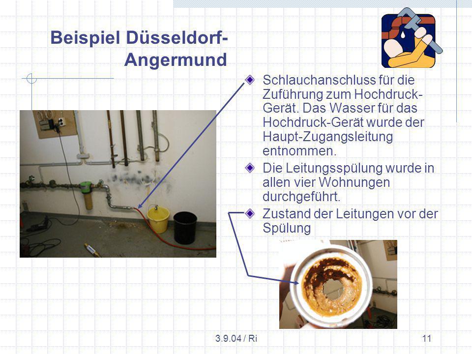 3.9.04 / Ri11 Schlauchanschluss für die Zuführung zum Hochdruck- Gerät.