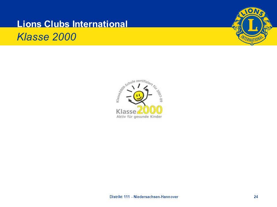 Lions Clubs International Klasse 2000 Distrikt 111 - Niedersachsen-Hannover24