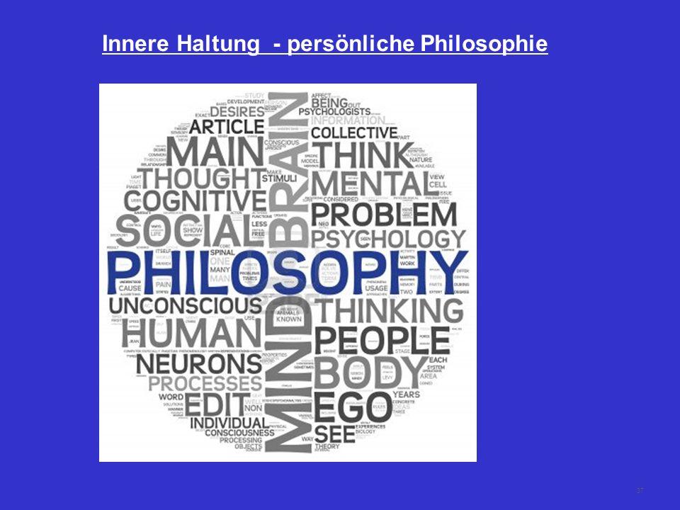 37 Innere Haltung - persönliche Philosophie