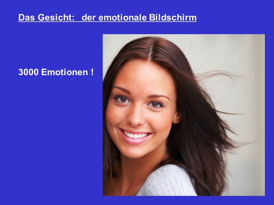 43 Das Gesicht: der emotionale Bildschirm 3000 Emotionen !