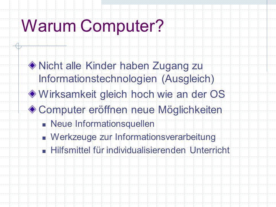 Warum Computer.