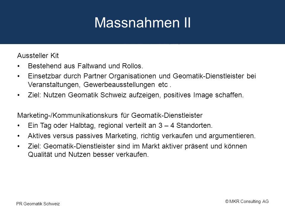 Massnahmen II Aussteller Kit Bestehend aus Faltwand und Rollos. Einsetzbar durch Partner Organisationen und Geomatik-Dienstleister bei Veranstaltungen