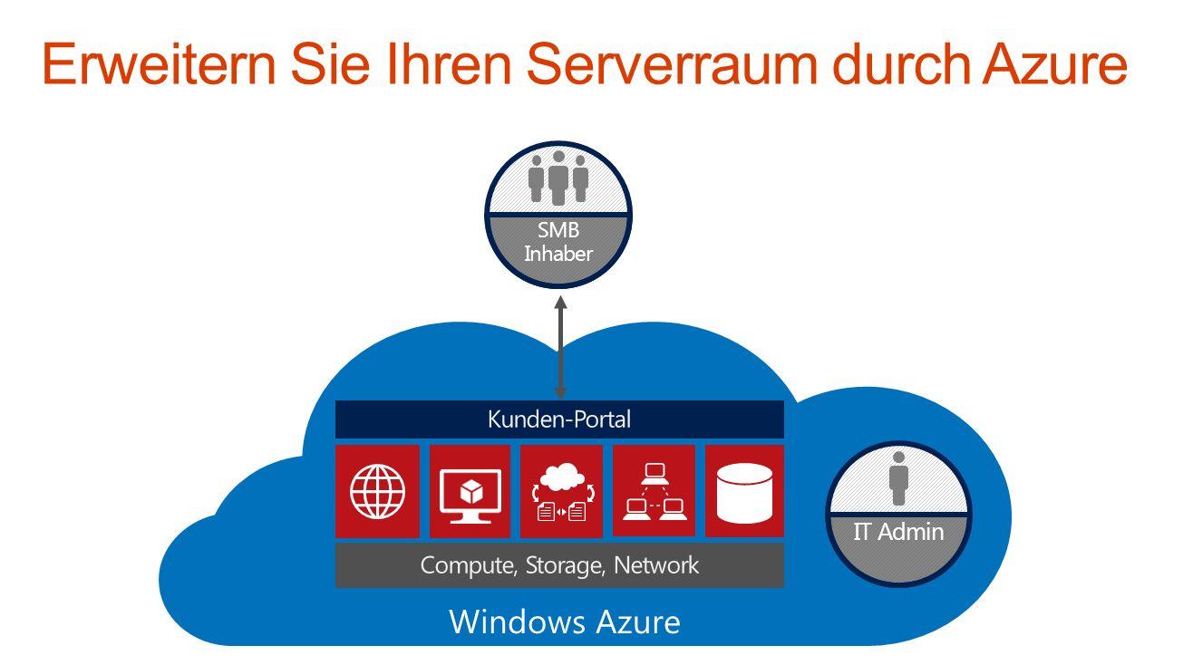 Erweitern Sie Ihren Serverraum durch Azure Windows Azure IT Admin SMB Inhaber