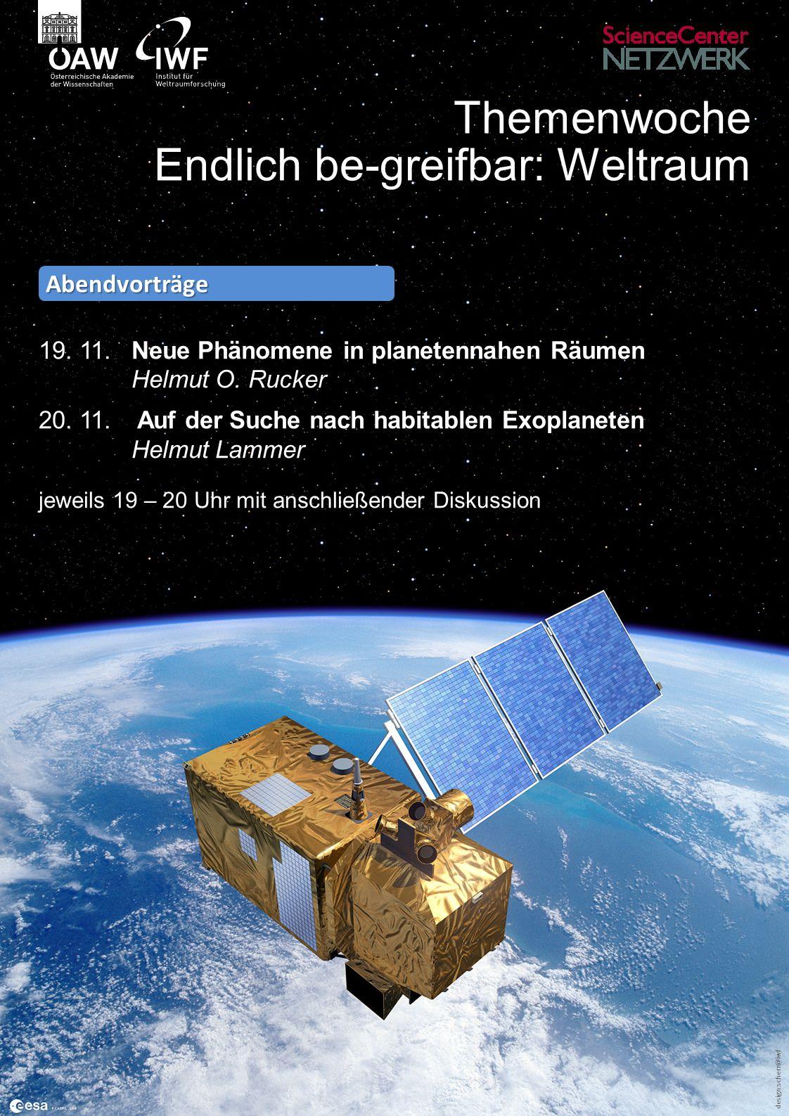 design:scherr@iwf Themenwoche Endlich be-greifbar: Weltraum 19.