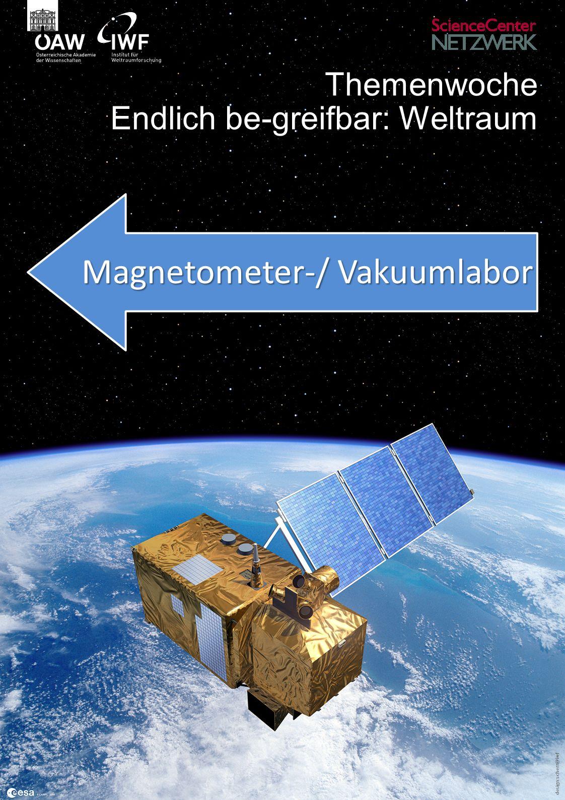 design:scherr@iwf Themenwoche Endlich be-greifbar: Weltraum Magnetometer-/ Vakuumlabor