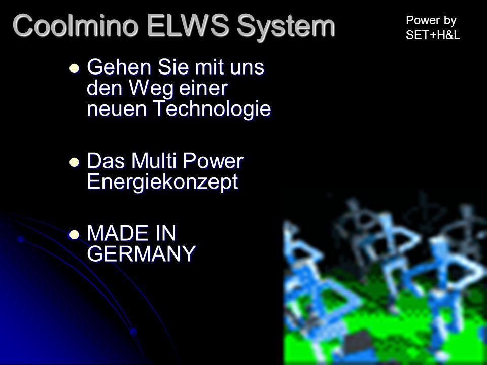 Gehen Sie mit uns den Weg einer neuen Technologie Gehen Sie mit uns den Weg einer neuen Technologie Das Multi Power Energiekonzept Das Multi Power Ene