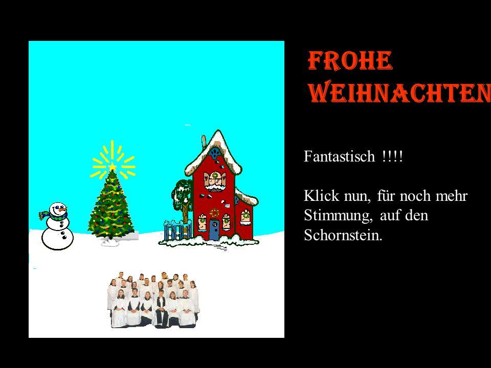 Frohe Weihnachten Schön, nun wird die Stimmung weihnachtlich! Um die Kerzen anzuzünden, klick auf den Weihnachtsbaum.....