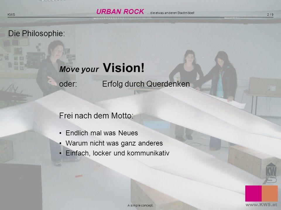 Die Philosophie: Move your Vision! oder: Erfolg durch Querdenken Frei nach dem Motto: Endlich mal was Neues Warum nicht was ganz anderes Einfach, lock