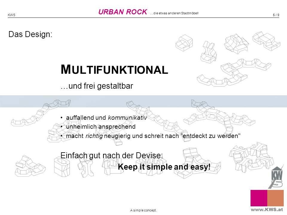 Das Design: M ULTIFUNKTIONAL …und frei gestaltbar auffallend und kommunikativ unheimlich ansprechend macht richtig neugierig und schreit nach