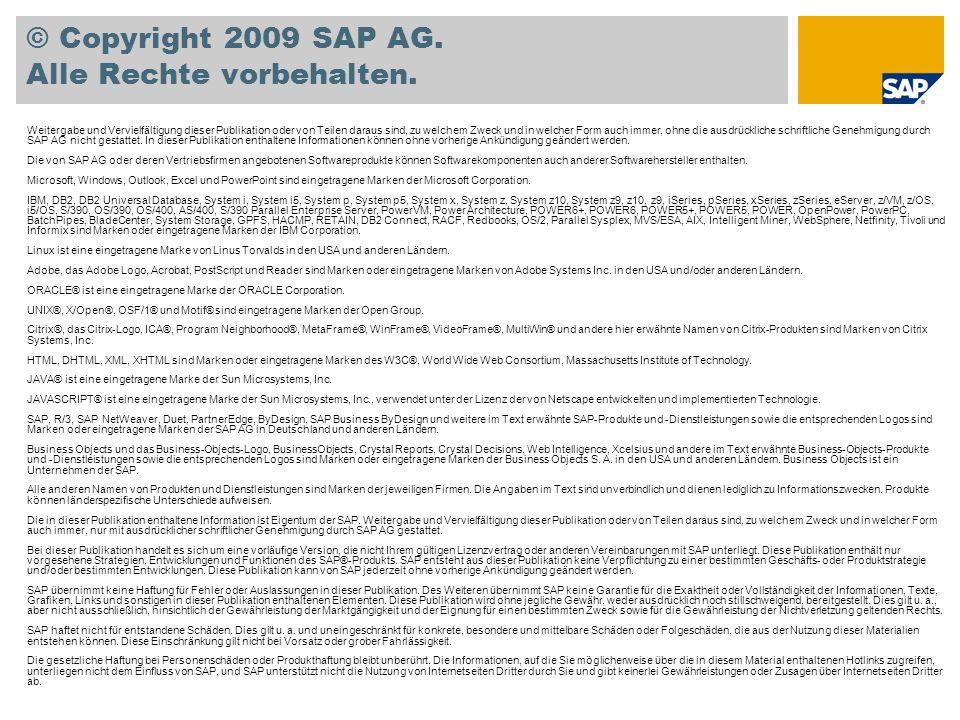 © Copyright 2009 SAP AG.Alle Rechte vorbehalten.