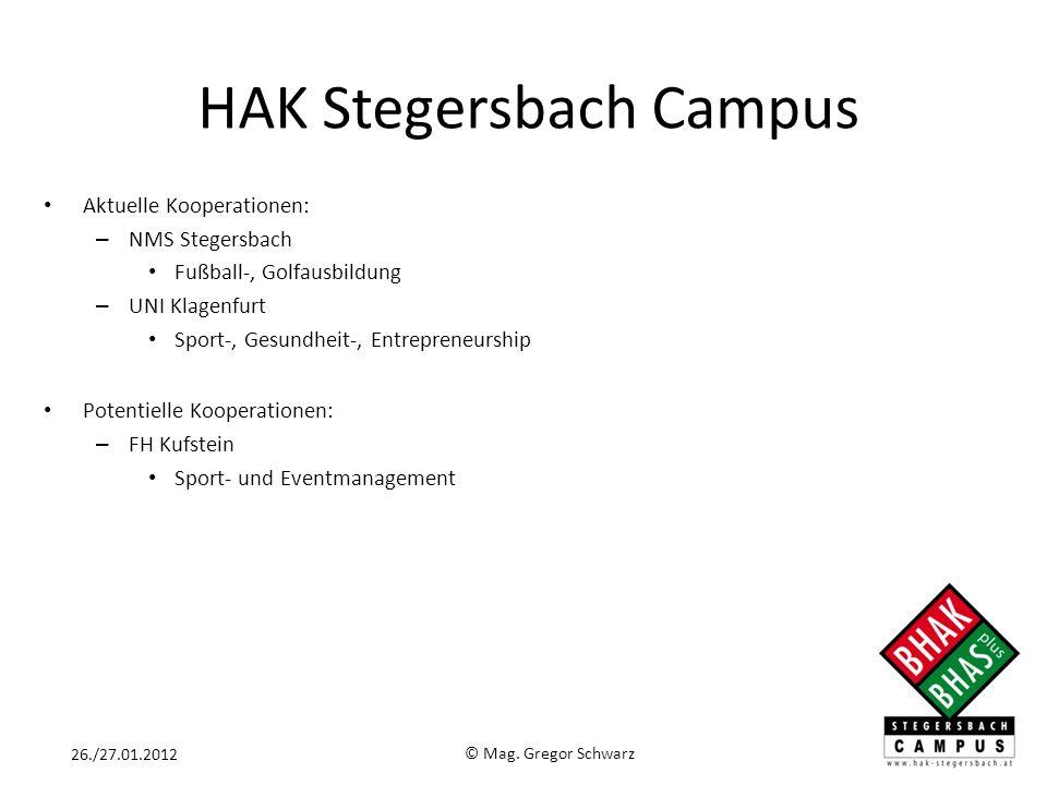Aktuelle Kooperationen: – NMS Stegersbach Fußball-, Golfausbildung – UNI Klagenfurt Sport-, Gesundheit-, Entrepreneurship Potentielle Kooperationen: –