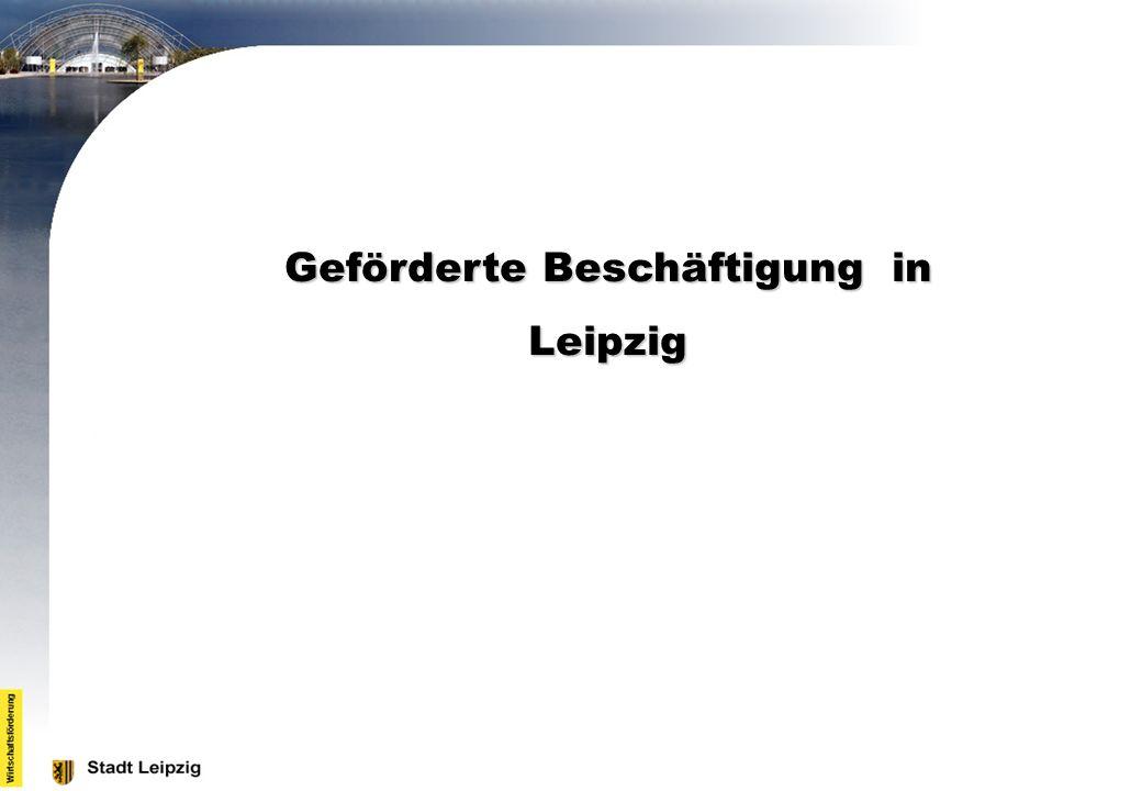 Geförderte Beschäftigung in Leipzig