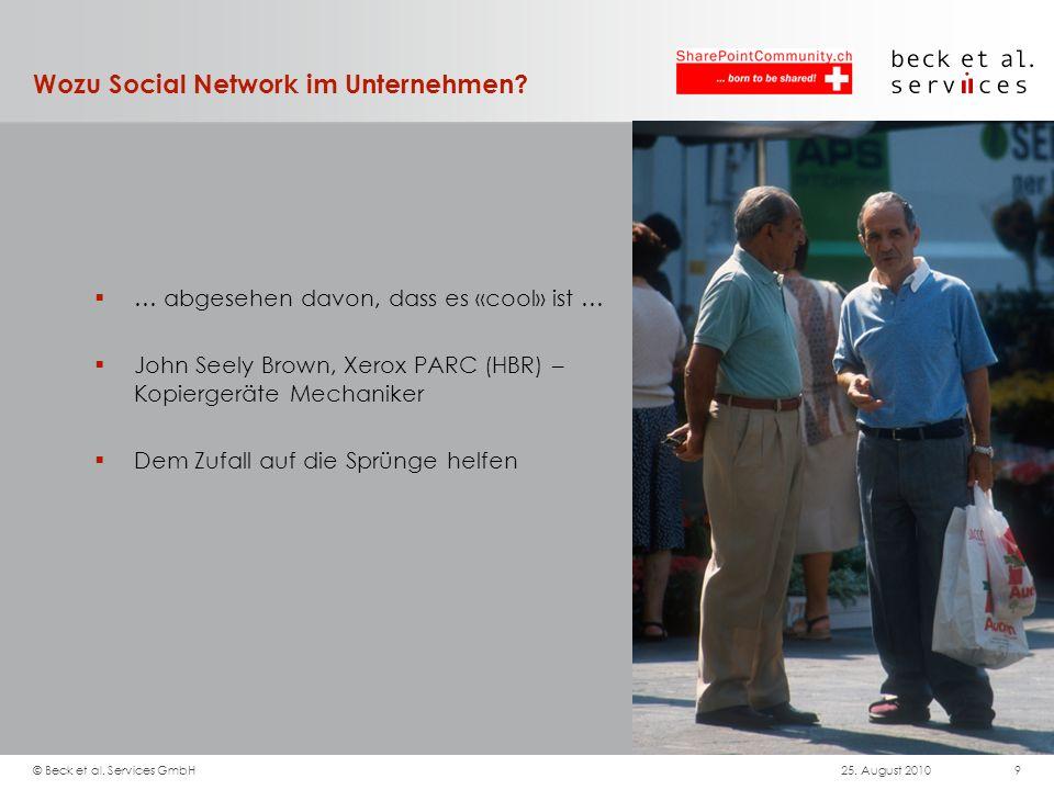 Wozu Social Network im Unternehmen? … abgesehen davon, dass es «cool» ist … John Seely Brown, Xerox PARC (HBR) – Kopiergeräte Mechaniker Dem Zufall au