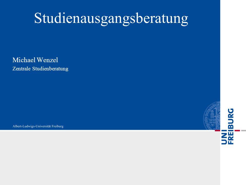 Michael Wenzel Zentrale Studienberatung Studienausgangsberatung