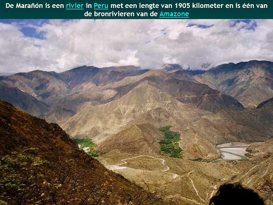 De bron van de Amazone ligt in Nevado Mismi (Peru) op een hoogte van 5170 meter.