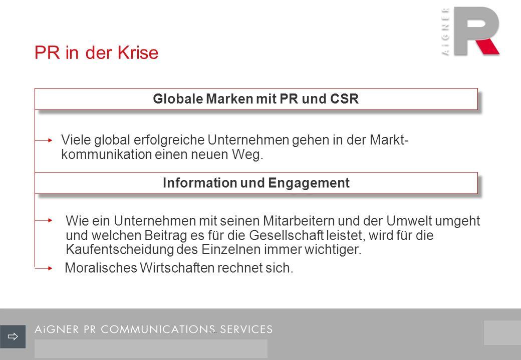 Viele global erfolgreiche Unternehmen gehen in der Markt- kommunikation einen neuen Weg.
