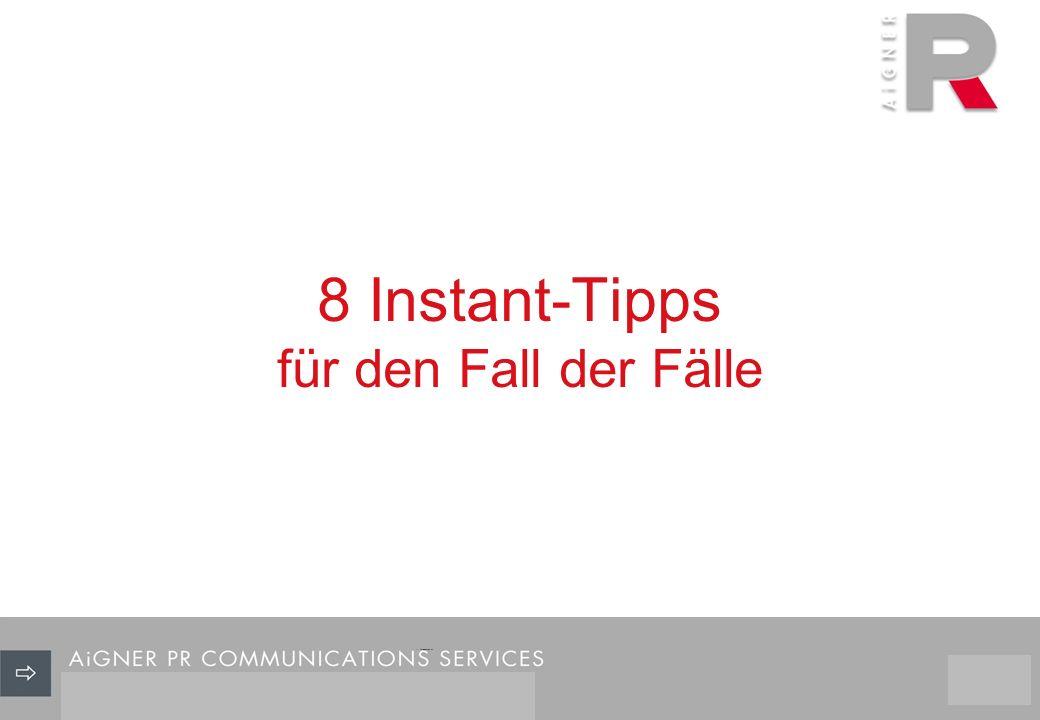 8 Instant-Tipps für den Fall der Fälle 11/29