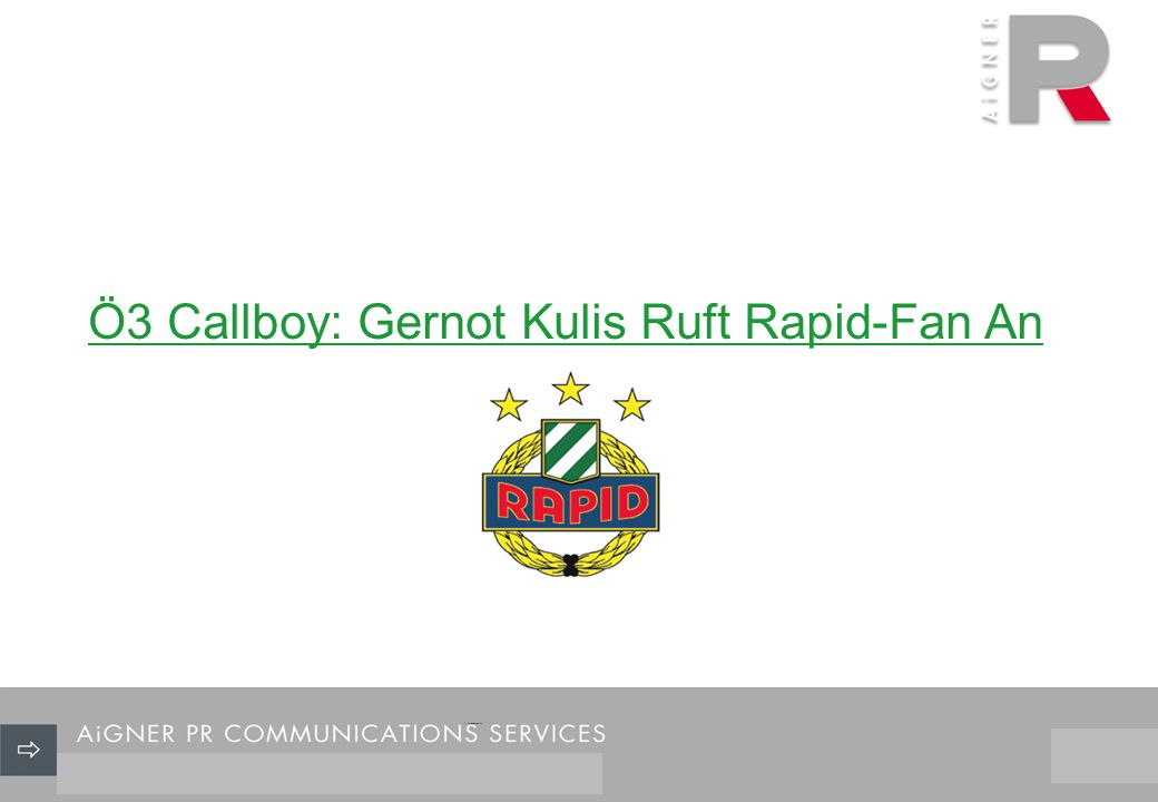 26/29 Ö3 Callboy: Gernot Kulis Ruft Rapid-Fan An