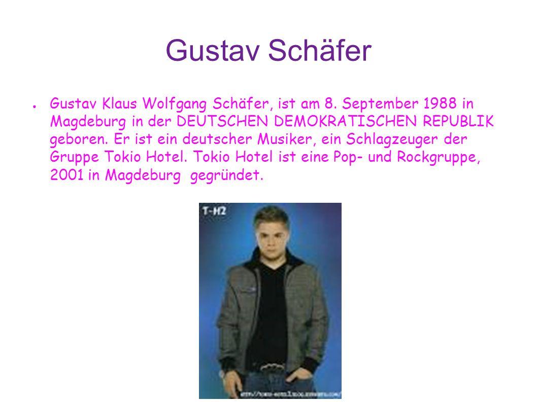 Gustav Schäfer Gustav Klaus Wolfgang Schäfer, ist am 8.