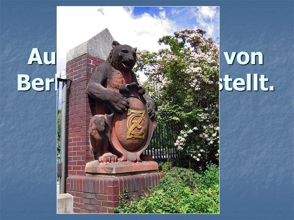 Auf dem Wappen von Berlin ist... dargestellt. a) ein Adler, b) ein Bär, c) ein Löwe