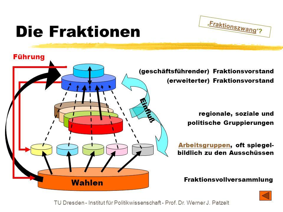 TU Dresden - Institut für Politikwissenschaft - Prof. Dr. Werner J. Patzelt ArbeitsgruppenArbeitsgruppen, oft spiegel- bildlich zu den Ausschüssen Die