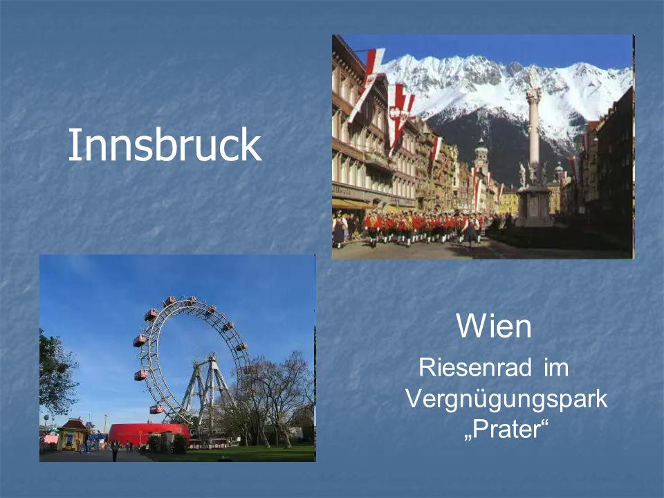 Innsbruck Wien Riesenrad im Vergnügungspark Prater