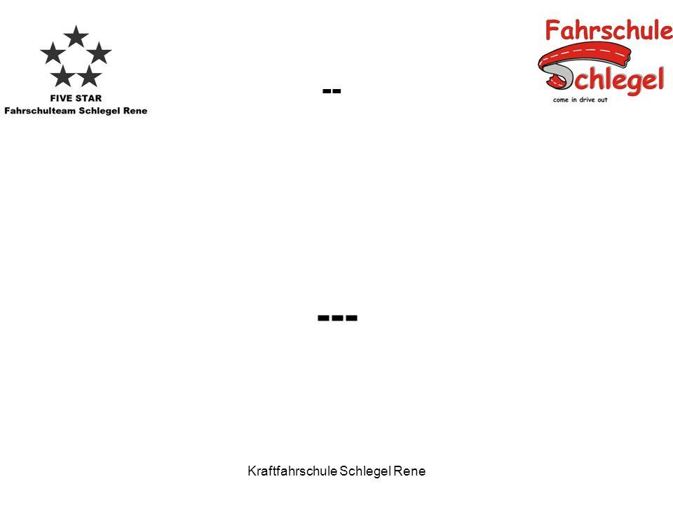 Kraftfahrschule Schlegel Rene -- ---