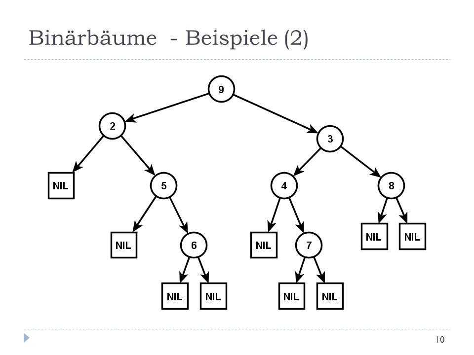 Binärbäume - Beispiele (2) 10